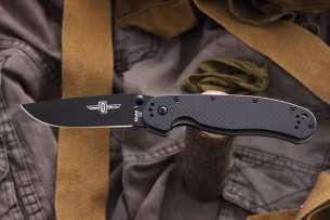 Ontario Нож складной RAT-1 Limited Edition Black Blade