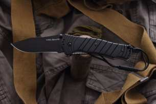 Ontario Складной нож Joe Pardue Utilitac Tactical Black