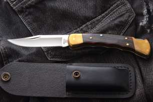 Buck Folding Hunter Finger Grooved 110