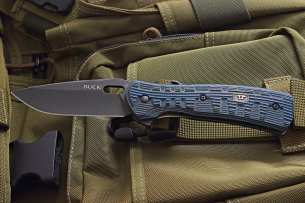 Buck Vantage Force Pro Blue/Black G-10 0847BLS