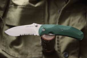Ontario Нож складной Joe Pardue Utilitac Tactical 2S Green 8786