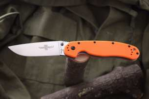 Ontario Нож складной RAT-1 Limited Edition Satin Blade Orange Handle D2 8867OR