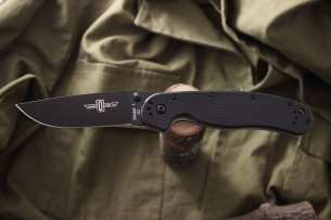 Ontario Нож складной RAT-1 Black Blade Black Handle D2 8868