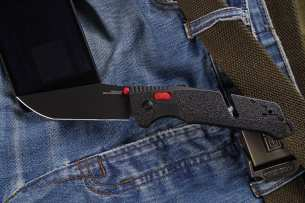 SOG TRIDENT MK3 BLACK-RED TANTO